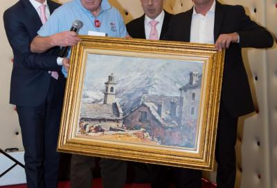 Bettini premiato alla vigilia del Gp di Lugano