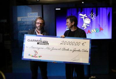 Alex Zanardi premiato per BeatYesterday
