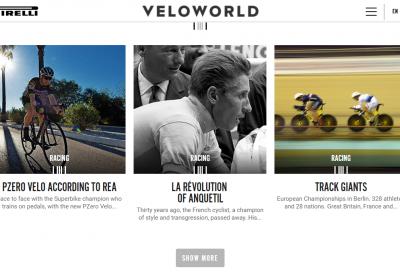 La sezione e-commerce del sito velo.pirelli.com