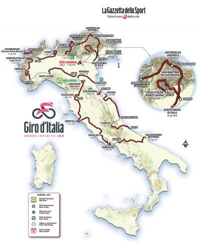 Il Giro 2019 all'insegna del made in Italy