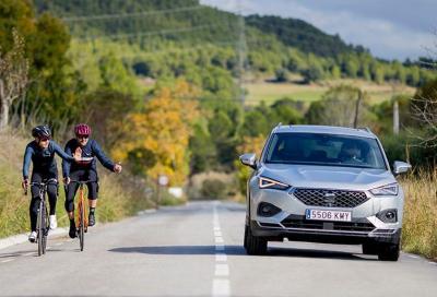 Seat Tarraco, l'auto che pensa ai ciclisti