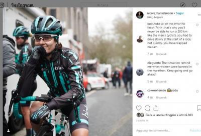 Più veloce degli uomini. La ciclista svizzera Nicole Hanselmann fermata dai giudici