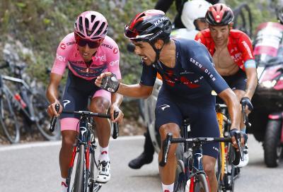 Giro d'Italia: crisi Bernal. Vince Martin e Yates guadagna
