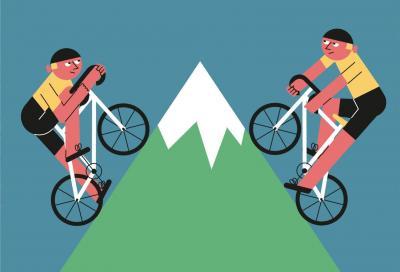 Pedalare in salita: meglio seduti o in piedi sulla bicicletta?
